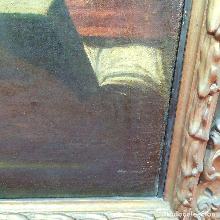 Arte: RETRATO DEL CARDENAL GENGA. ÓLEO SOBRE LIENZO. ESCUELA REMBRANDT. PAISES BAJOS. XVII-XVIII - Foto 3 - 198330275