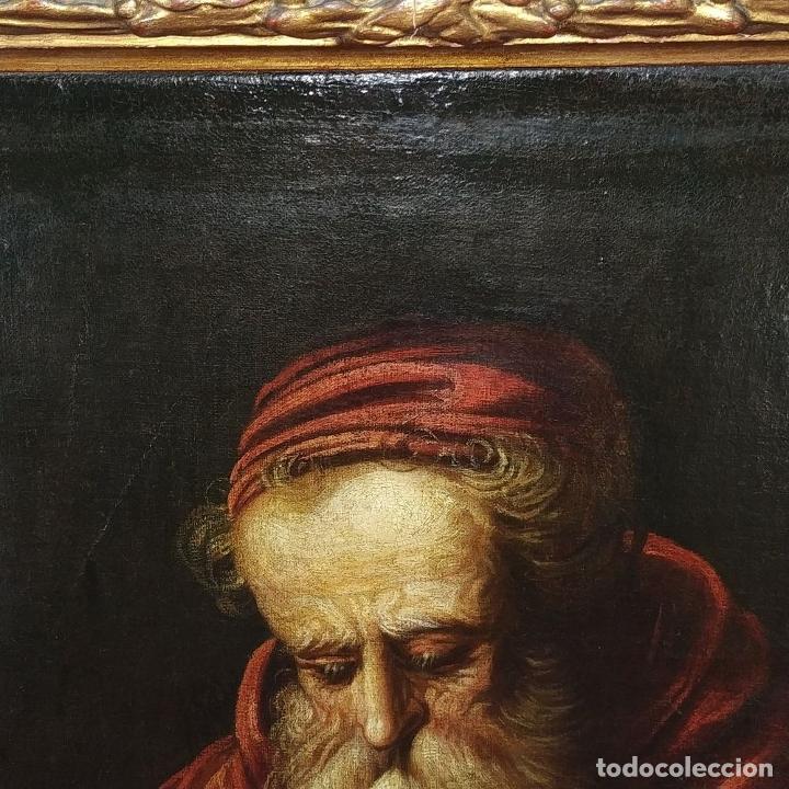 Arte: RETRATO DEL CARDENAL GENGA. ÓLEO SOBRE LIENZO. ESCUELA REMBRANDT. PAISES BAJOS. XVII-XVIII - Foto 4 - 198330275