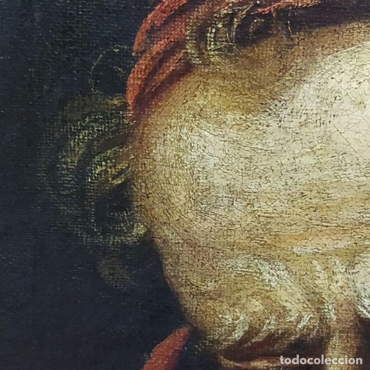 Arte: RETRATO DEL CARDENAL GENGA. ÓLEO SOBRE LIENZO. ESCUELA REMBRANDT. PAISES BAJOS. XVII-XVIII - Foto 11 - 198330275