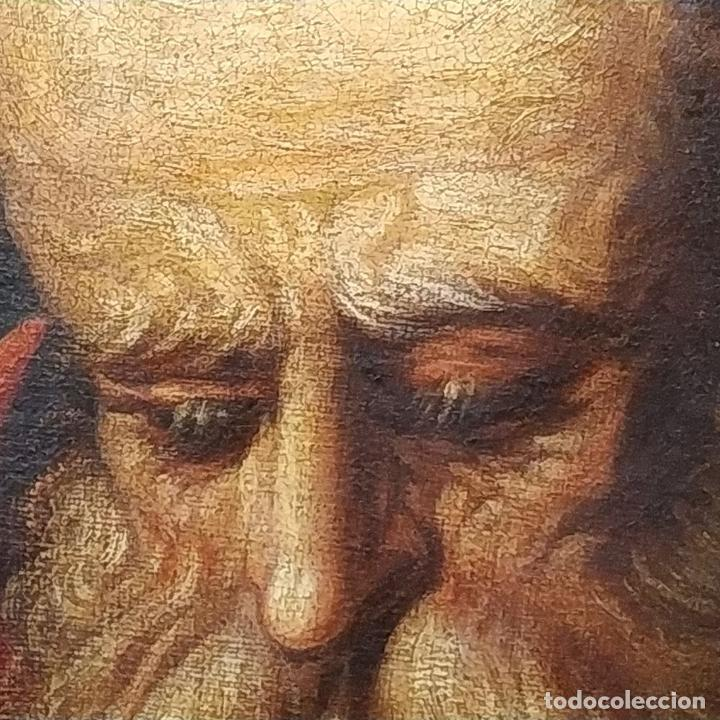 Arte: RETRATO DEL CARDENAL GENGA. ÓLEO SOBRE LIENZO. ESCUELA REMBRANDT. PAISES BAJOS. XVII-XVIII - Foto 12 - 198330275