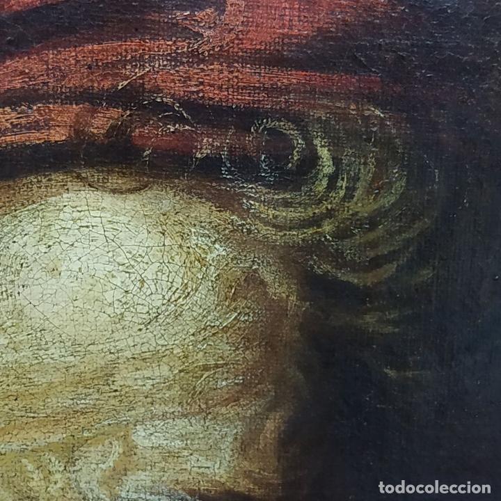 Arte: RETRATO DEL CARDENAL GENGA. ÓLEO SOBRE LIENZO. ESCUELA REMBRANDT. PAISES BAJOS. XVII-XVIII - Foto 13 - 198330275