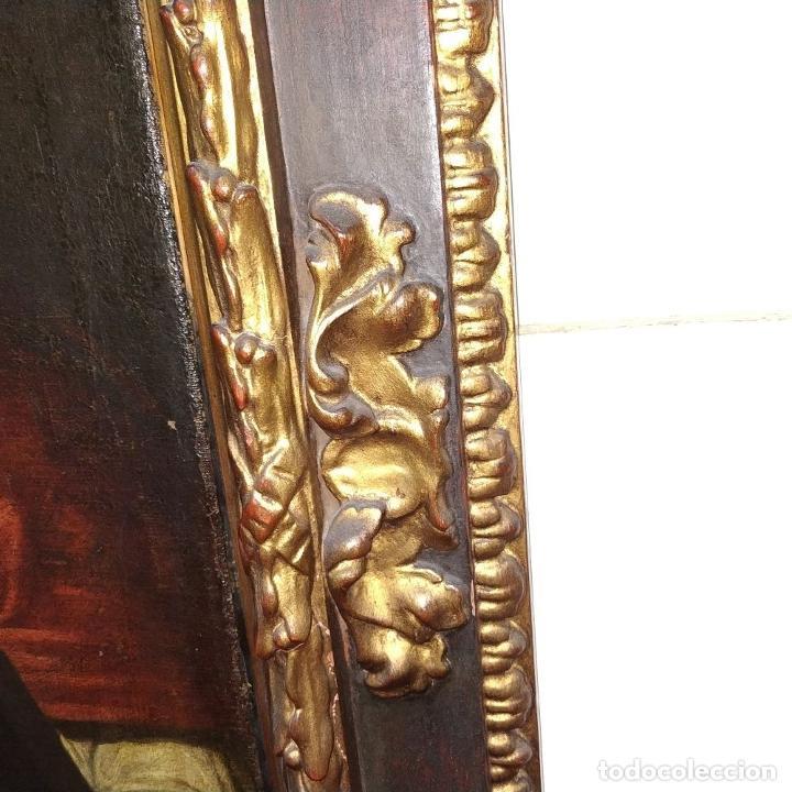 Arte: RETRATO DEL CARDENAL GENGA. ÓLEO SOBRE LIENZO. ESCUELA REMBRANDT. PAISES BAJOS. XVII-XVIII - Foto 18 - 198330275