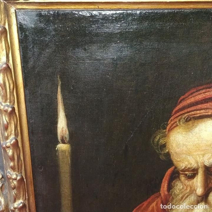 Arte: RETRATO DEL CARDENAL GENGA. ÓLEO SOBRE LIENZO. ESCUELA REMBRANDT. PAISES BAJOS. XVII-XVIII - Foto 23 - 198330275