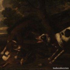 Arte: PINTURA ITALIANA ANTIGUA DE ESCENA DE CAZA DEL SIGLO XVIII. Lote 198333781