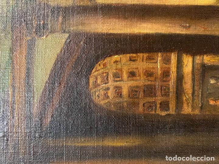 Arte: PAISAJE CON RUINAS, ESC. ROMANTICA ESPAÑOLA - Foto 3 - 198337016