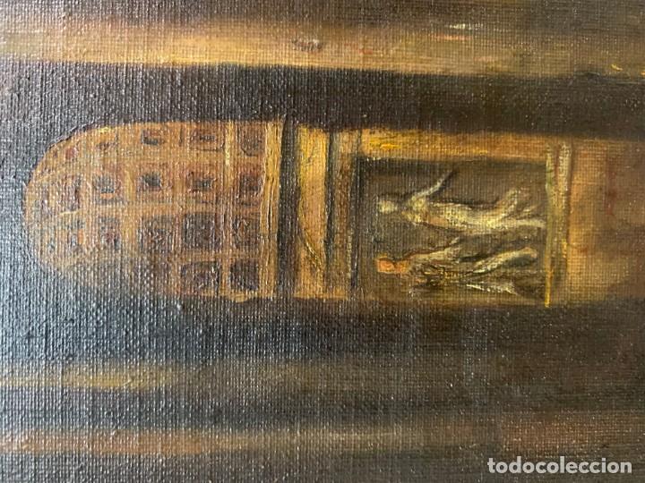 Arte: PAISAJE CON RUINAS, ESC. ROMANTICA ESPAÑOLA - Foto 4 - 198337016