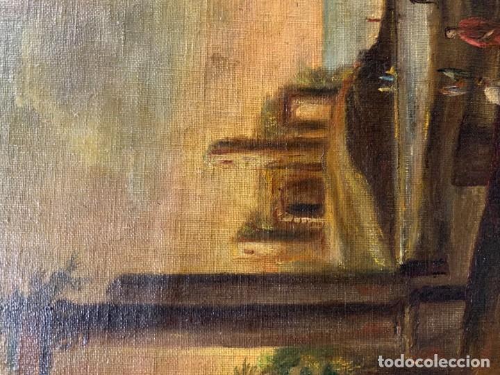 Arte: PAISAJE CON RUINAS, ESC. ROMANTICA ESPAÑOLA - Foto 5 - 198337016