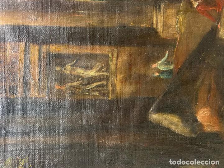 Arte: PAISAJE CON RUINAS, ESC. ROMANTICA ESPAÑOLA - Foto 7 - 198337016