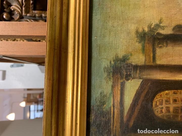 Arte: PAISAJE CON RUINAS, ESC. ROMANTICA ESPAÑOLA - Foto 8 - 198337016
