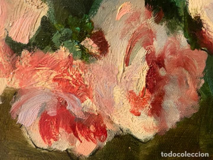 Arte: GRAN FLORERO FIRMADO IRENE REYMOND, ESC. FRANCESA - Foto 3 - 198337357