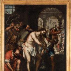 Arte: ÓLEO LIENZO LA FLAGELACION ATRIBUIDO A BERNARDO GERMAN LORENTE 1680 1759. Lote 198349720