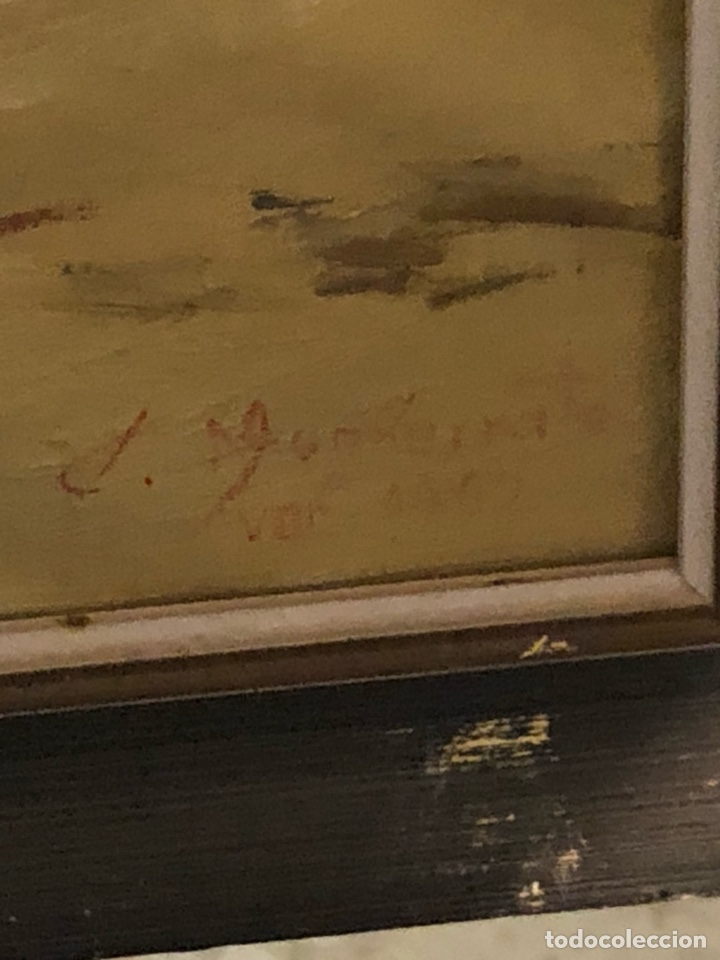 Arte: Bonito óleo sobre lienzo firmado - Foto 6 - 198363858