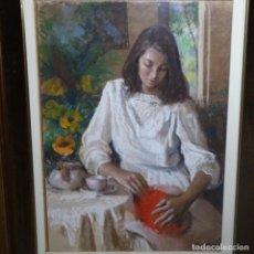 Arte: PASTEL DE JOAN MARTI ARAGONES DEL 1988.EXCELENTE OBRA.. Lote 198378162