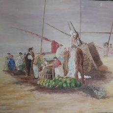 Arte: OLEO SOBRE LIENZO, MARINA. Lote 198395128