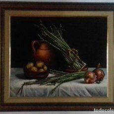 Arte: JOLOGA. BODEGÓN DE ESPÁRRAGOS. 65X54. F15.CON MARCO.. Lote 78702813