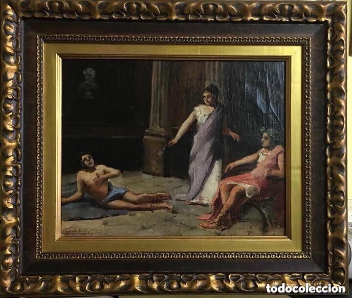 ISIDORO GARNELO FILLOL OLEO/LIENZO FIRMADO Y FECHADO GARNELO FILLOL ROMA 92 MEDIDAS 39X31 (Arte - Pintura - Pintura al Óleo Antigua sin fecha definida)