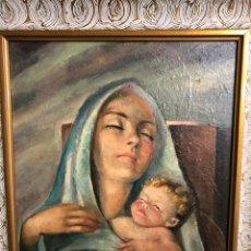 Arte: F.ESCRIVA CANTOS OLEO SOBRE TABLA MEDIDAS 47X57 CON MARCO 60X70. Lote 198601027