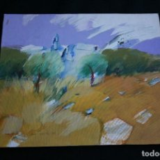 Arte: PIO COSTA BEIRO, OLEO, 0 ACRILICO SOBRE CARTON DURO, BONITO PAISAJE . FIRMADO. Lote 198642492
