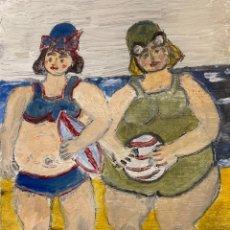 Arte: BAÑISTAS MAMA Y HIJA. Lote 198731946