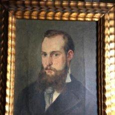 Arte: OLEO DE FRANCISCO MAURA Y MONTANER,PALMA 1857,IRÚN 1931. SIN MARCO 21,5 X 27 CMS. AUTORETRATO?.FOTOS. Lote 198879038