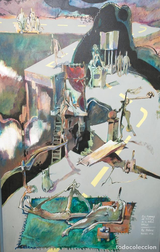Arte: GRAN CUADRO DEL PINTOR ROC ALABERN, 152 X 95 - Foto 2 - 198899730