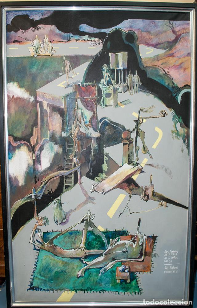 GRAN CUADRO DEL PINTOR ROC ALABERN, 152 X 95 (Arte - Pintura - Pintura al Óleo Contemporánea )