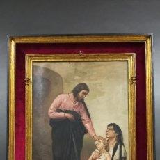 Arte: OLEO SOBRE LIENZO FIRMADO MOLINA, JESUS DE LOS POBRES. Lote 198917845