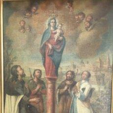 Arte: ESCUELA BARROCA COLONIAL SIGLO XVIII: APARICION DE LA VIRGEN. Lote 198943357