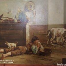 Arte: ANTIGUO OLEO DE GRAN CALIDAD PINTURA POLACA FIRMADA SIGLO XIX 90 X 50 CM. Lote 198959315