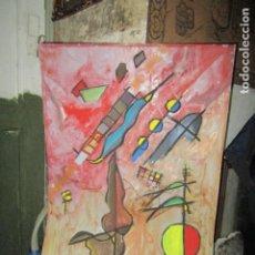 Arte: PINTURA ANTIGUA OLEO SOBRE CARTON SURREALISTA 70 X 50 CMS SURREALISMO ABSTRACTO CUBISTA. Lote 199040198