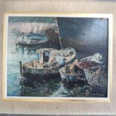Arte: PINTURA AL OLEO SOBRE TABLA FIRMADO A.ADELANTADO. Lote 199155797