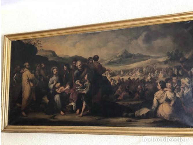 ÒLEO MULTIPLICACIÓN PANES Y PECES (Arte - Pintura - Pintura al Óleo Antigua sin fecha definida)