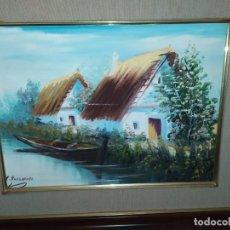 Arte: ANTIGUO ÓLEO SOBRE LIENZO ENMARCADO C ROCAMORA. Lote 199241138