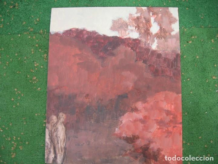 ACUARELA SOBRE TABLERO PASEANDO POR BOSQUE (Arte - Pintura - Pintura al Óleo Contemporánea )