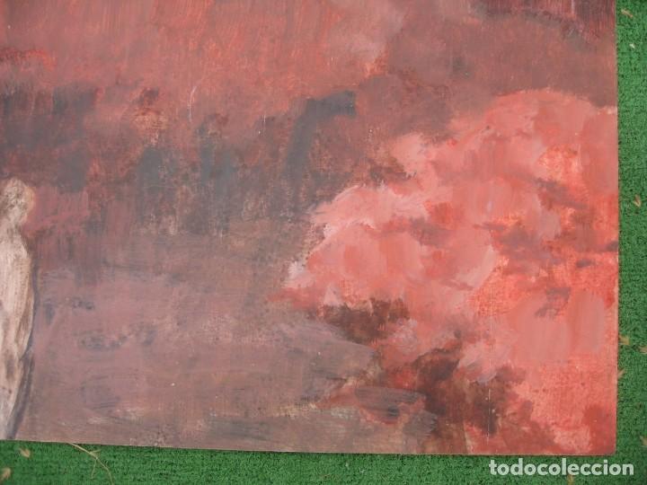 Arte: ACUARELA SOBRE TABLERO PASEANDO POR BOSQUE - Foto 5 - 199264560