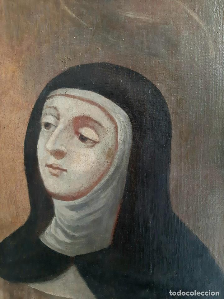 Arte: Oleo sobre lienzo. s.XVII-XVIII. Sta Rosa de Lima? - Foto 2 - 36429593