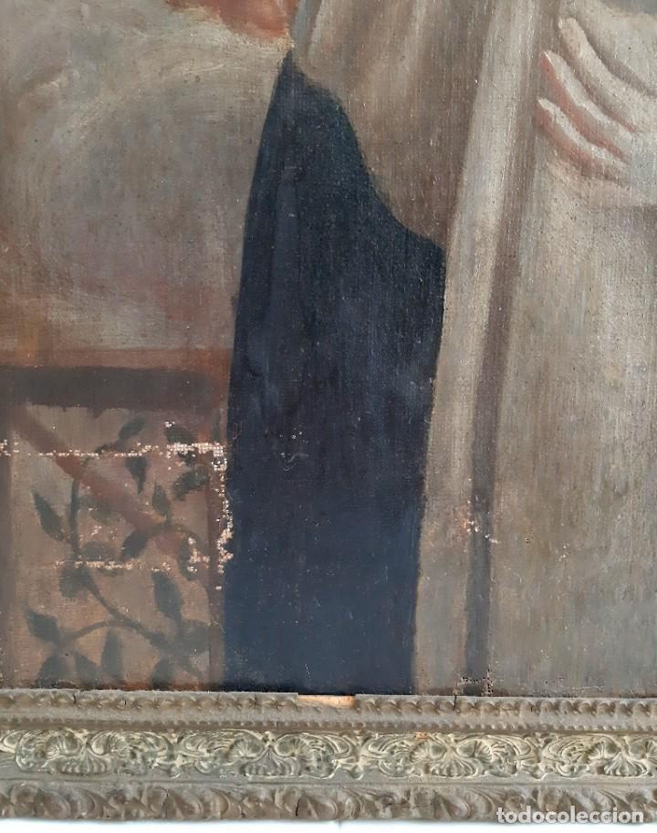 Arte: Oleo sobre lienzo. s.XVII-XVIII. Sta Rosa de Lima? - Foto 3 - 36429593