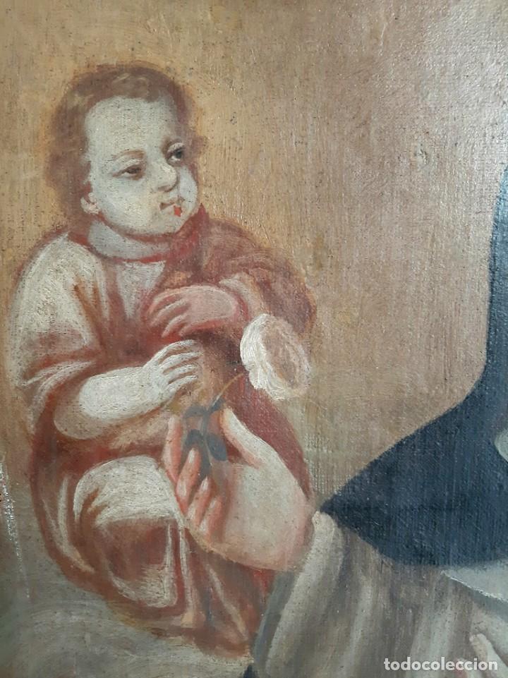 Arte: Oleo sobre lienzo. s.XVII-XVIII. Sta Rosa de Lima? - Foto 4 - 36429593