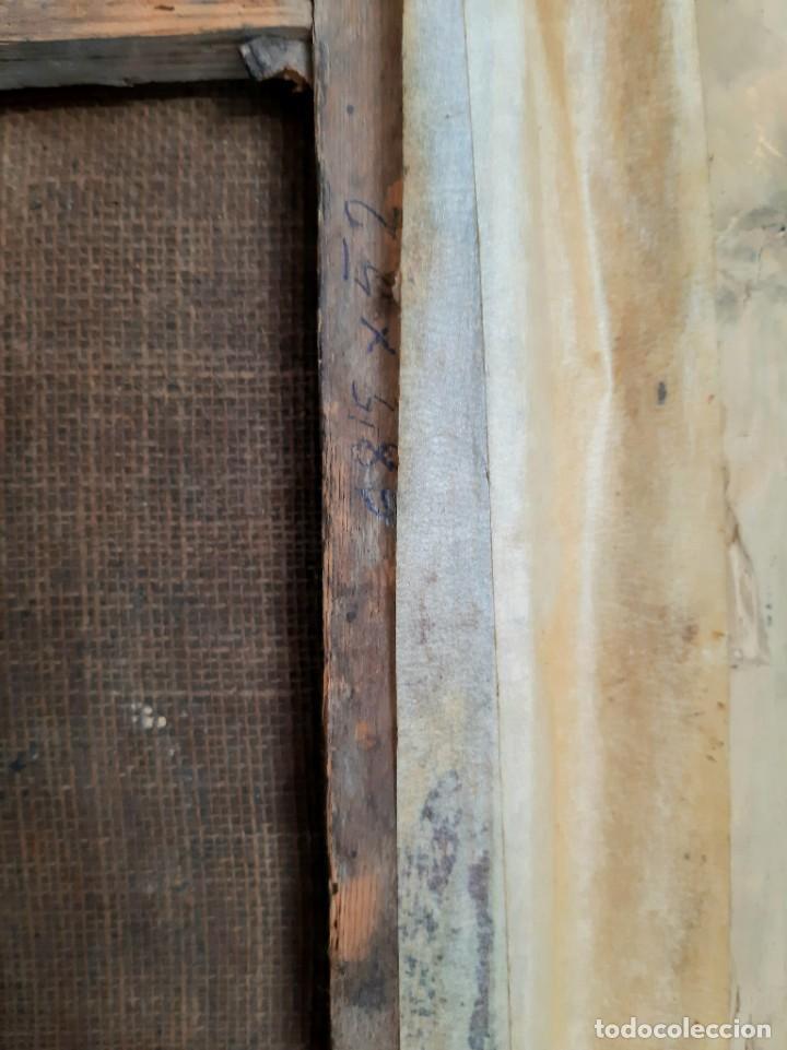 Arte: Oleo sobre lienzo. s.XVII-XVIII. Sta Rosa de Lima? - Foto 5 - 36429593