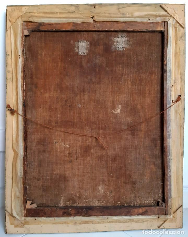 Arte: Oleo sobre lienzo. s.XVII-XVIII. Sta Rosa de Lima? - Foto 6 - 36429593