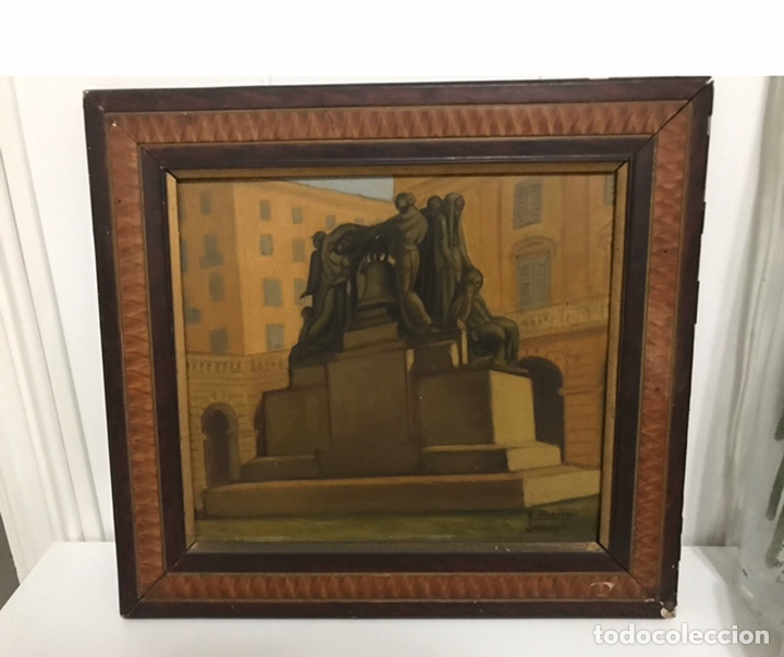 CUADRO ORIGINAL DE EULOGIO BLASCO CACERES (Arte - Pintura - Pintura al Óleo Moderna siglo XIX)