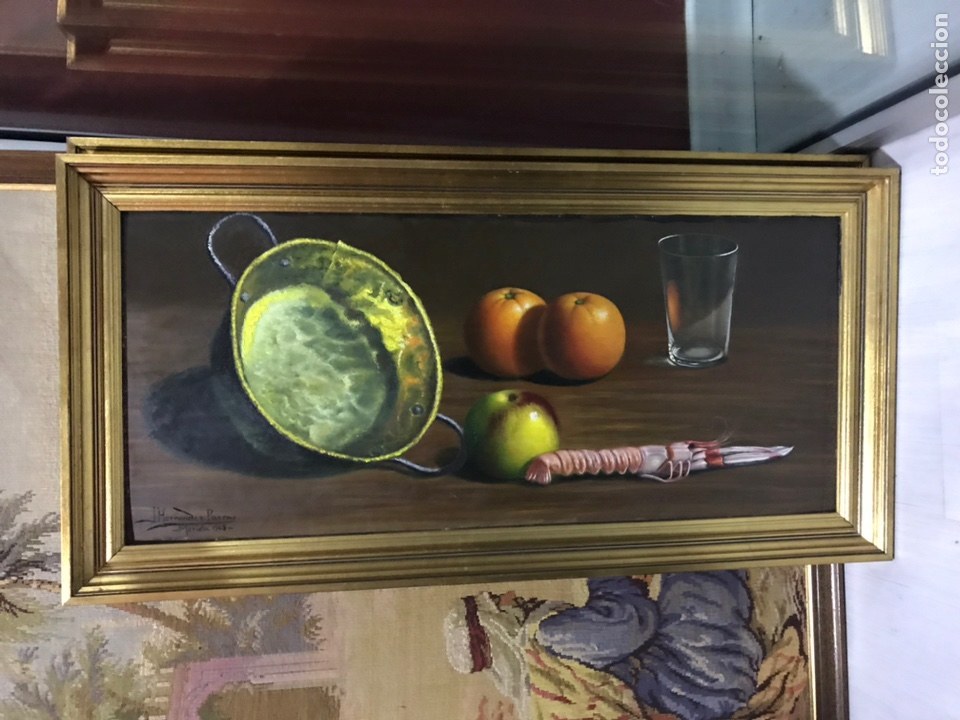 CUADRO ÓLEO BODEGÓN (Arte - Pintura - Pintura al Óleo Moderna siglo XIX)