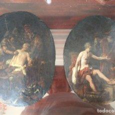 Arte: PAREJA DE CUADROS ITALIANOS ANTIGUOS S.XVIII POSIBLEMENTE DE ALGÚN RETABLO. Lote 199339846