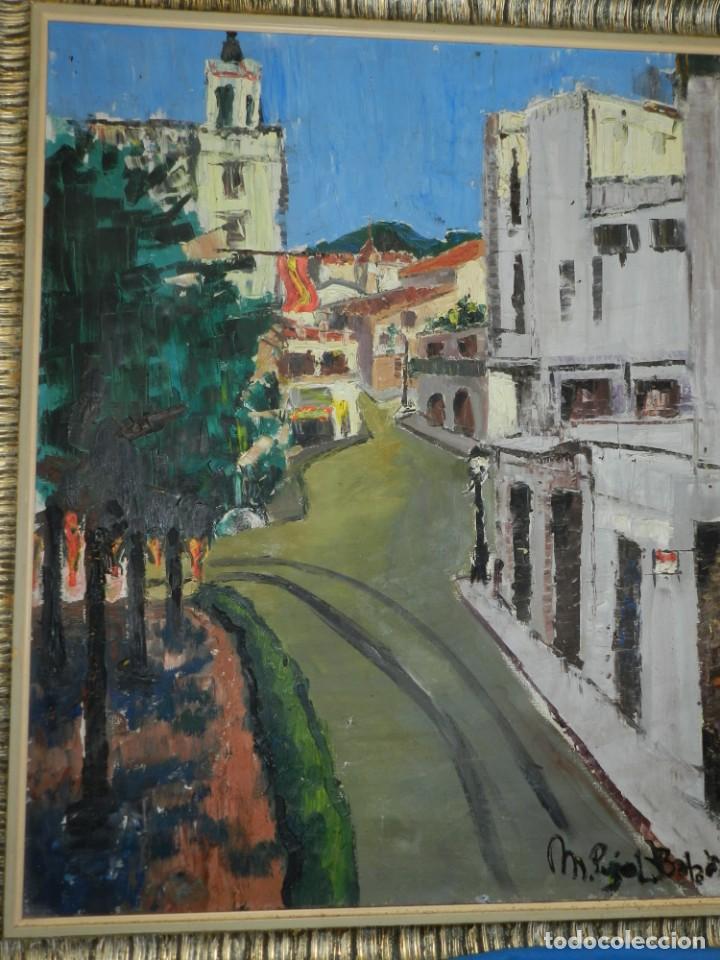 (M) ÓLEO FIRMADO MANEL PUJOL BALADAS 1947 - FATIMA NUM.7 BARCELONA, ENMARCADO, 93X77CM (Arte - Pintura - Pintura al Óleo Moderna sin fecha definida)