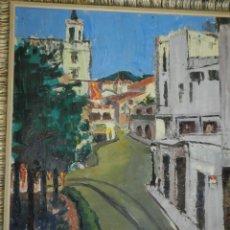 Arte: (M) ÓLEO FIRMADO MANEL PUJOL BALADAS 1947 - FATIMA NUM.7 BARCELONA, ENMARCADO, 93X77CM. Lote 199358726