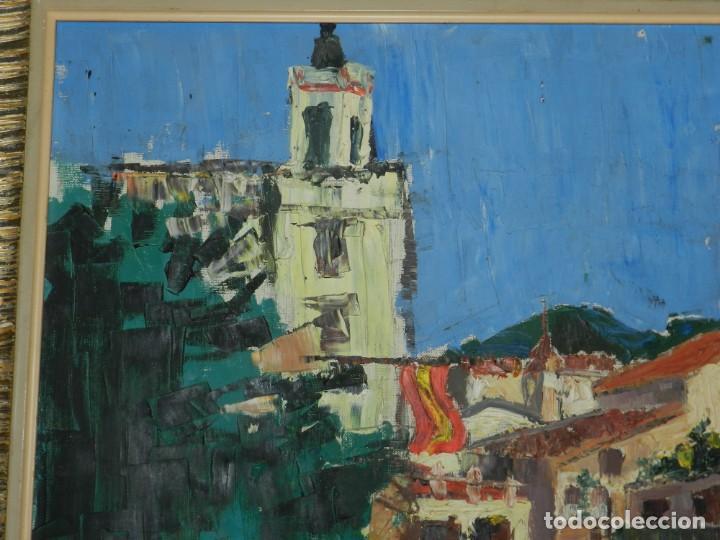 Arte: (M) ÓLEO FIRMADO MANEL PUJOL BALADAS 1947 - FATIMA NUM.7 BARCELONA, ENMARCADO, 93X77CM - Foto 5 - 199358726
