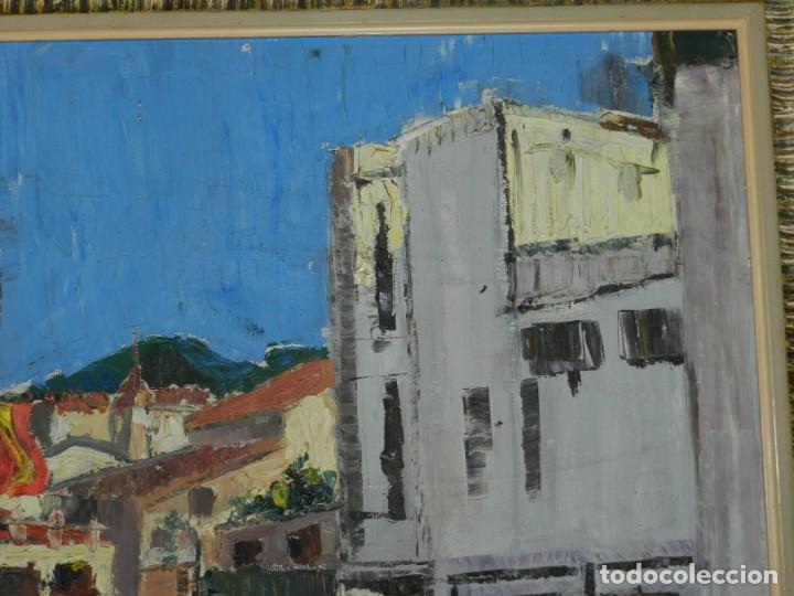 Arte: (M) ÓLEO FIRMADO MANEL PUJOL BALADAS 1947 - FATIMA NUM.7 BARCELONA, ENMARCADO, 93X77CM - Foto 6 - 199358726
