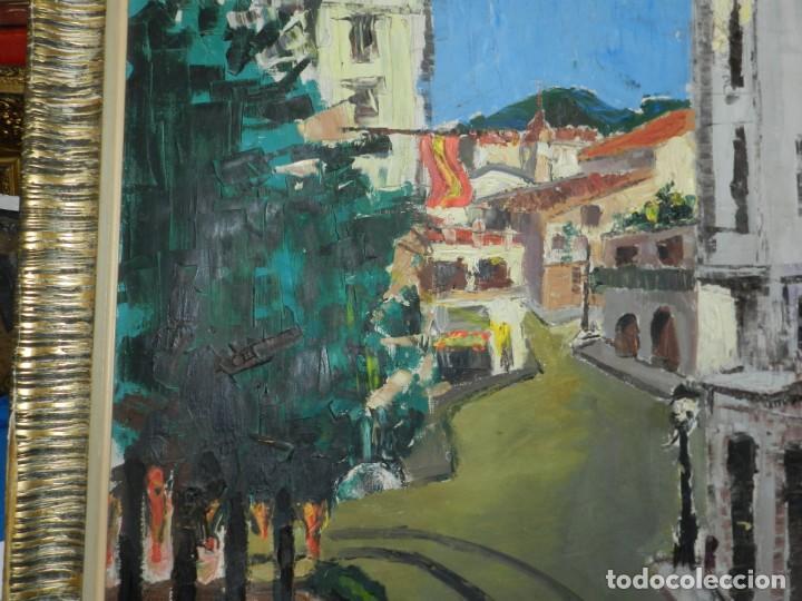 Arte: (M) ÓLEO FIRMADO MANEL PUJOL BALADAS 1947 - FATIMA NUM.7 BARCELONA, ENMARCADO, 93X77CM - Foto 7 - 199358726
