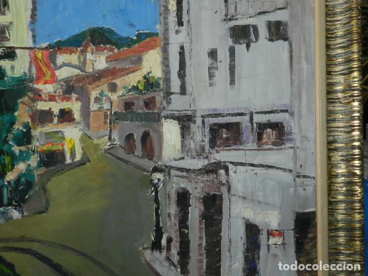 Arte: (M) ÓLEO FIRMADO MANEL PUJOL BALADAS 1947 - FATIMA NUM.7 BARCELONA, ENMARCADO, 93X77CM - Foto 8 - 199358726