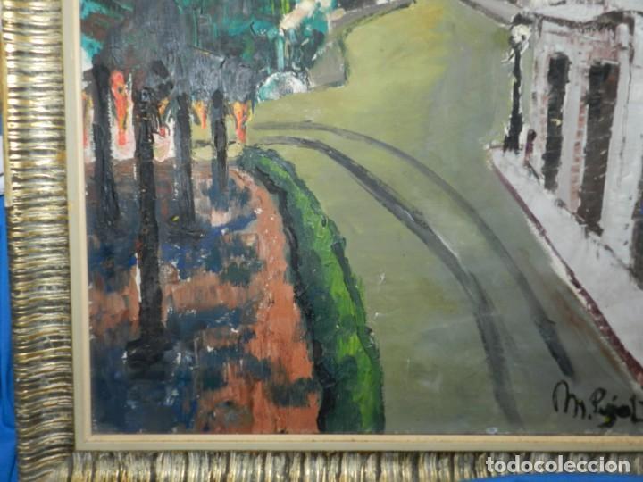 Arte: (M) ÓLEO FIRMADO MANEL PUJOL BALADAS 1947 - FATIMA NUM.7 BARCELONA, ENMARCADO, 93X77CM - Foto 9 - 199358726